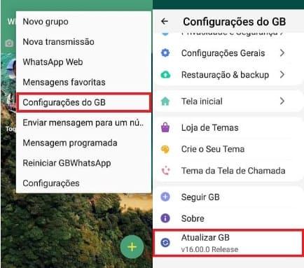 como atualizar o whatsapp gb no próprio apk