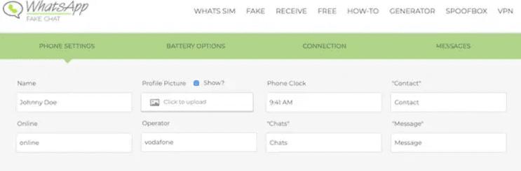 como criar um whatsapp fake com whatsapp fake generator