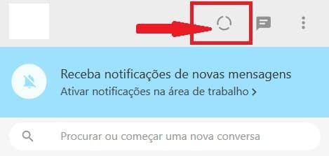 como postar status do whatsapp pelo pc