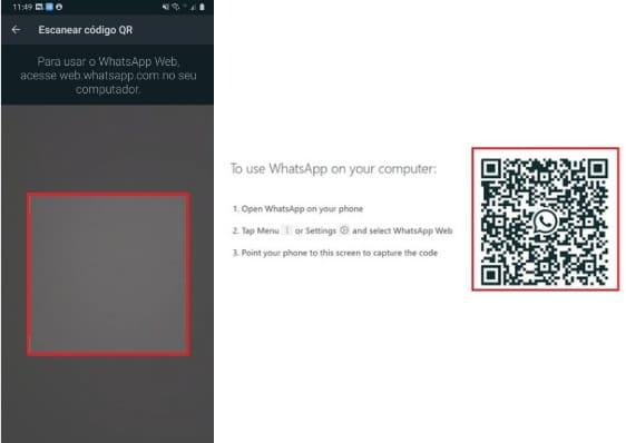 como postar status do whatsapp pelo pc com QR Code