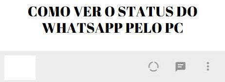 como ver status do whatsapp pelo computador