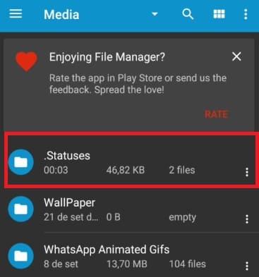 como visualizar o status do whatsapp e não mostrar com ES File parte 2
