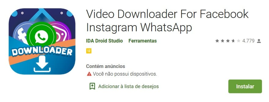 compartilhar vídeo do facebook para whatsapp com aplicativos