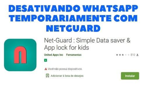 desativando whatsapp temporariamente com netguard