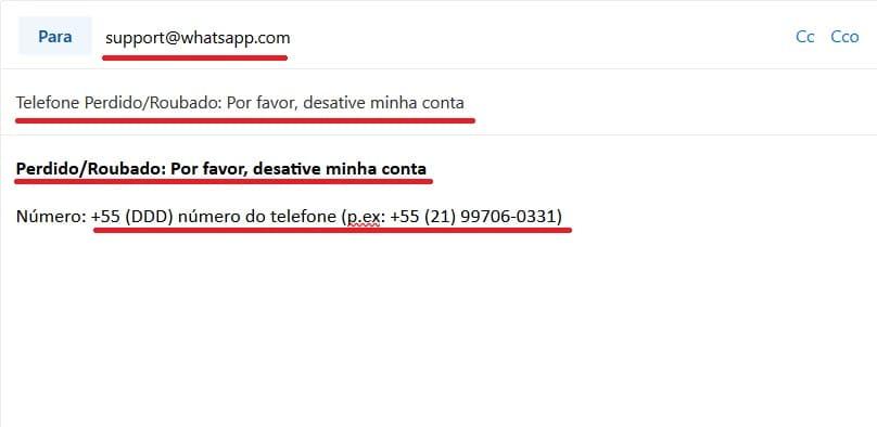 whatsapp com problema - envio de ajuda