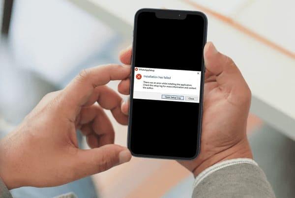 não consigo instalar whatsapp