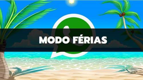 novas funções do whatsapp _modo férias