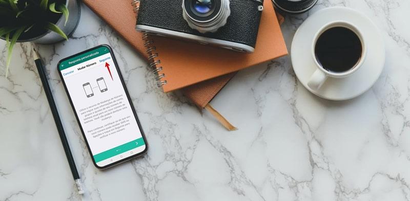 notificar seus contatos após mudar o número do WhatsApp
