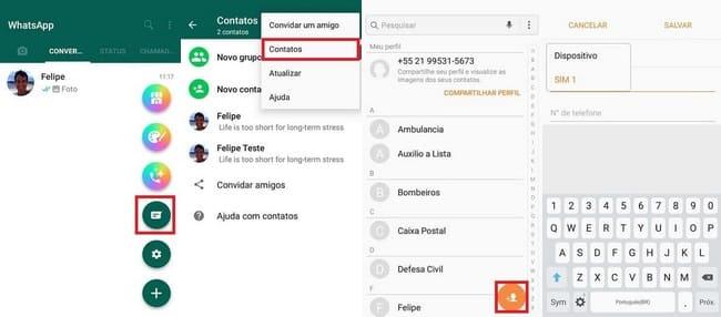 Como Adicionar Contatos no GBWhatsApp pelo próprio app #2