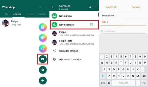 Como Adicionar Contatos no GBWhatsApp pelo próprio app