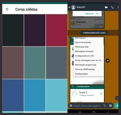 como mudar a cor do whatsapp gb pela versão padrão