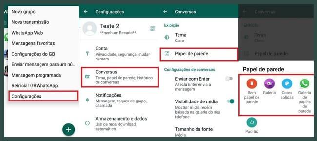 como mudar a cor do whatsapp gb pela versão tradicional
