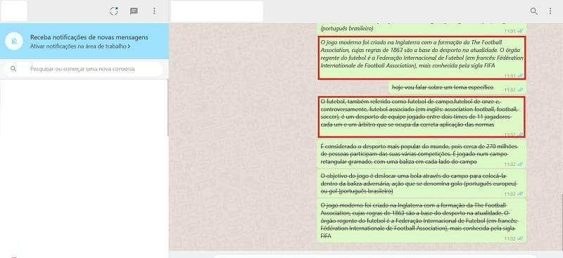como utilizar letras diferentes no whatsapp web