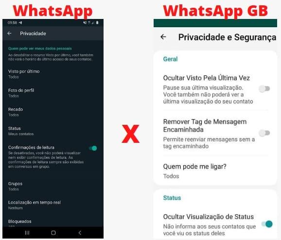 whatsapp gb não envia mensagens diferenças entre apps