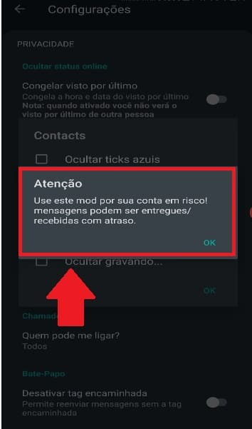 whatsapp gb não envia mensagens notificação de uso excessivo das funções