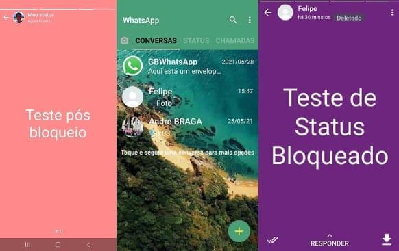 whatsapp gb pode fazer status bloqueado o contato