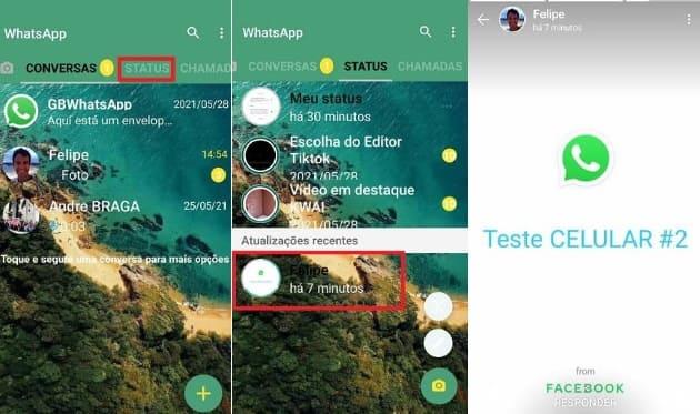 whatsapp gb pode fazer status bloqueado ou não