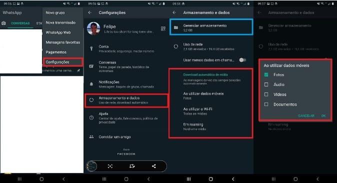 Como Impedir Download Automático no WhatsApp no Armazenamento de Dados