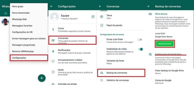 Como Mudar do GBWhatsApp para o WhatsApp fazendo backup