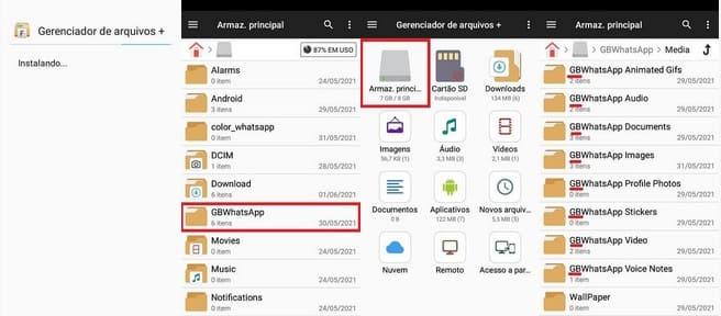 Como Mudar do GBWhatsApp para o WhatsApp pelo mudando as pastas no gerenciador de arquivos