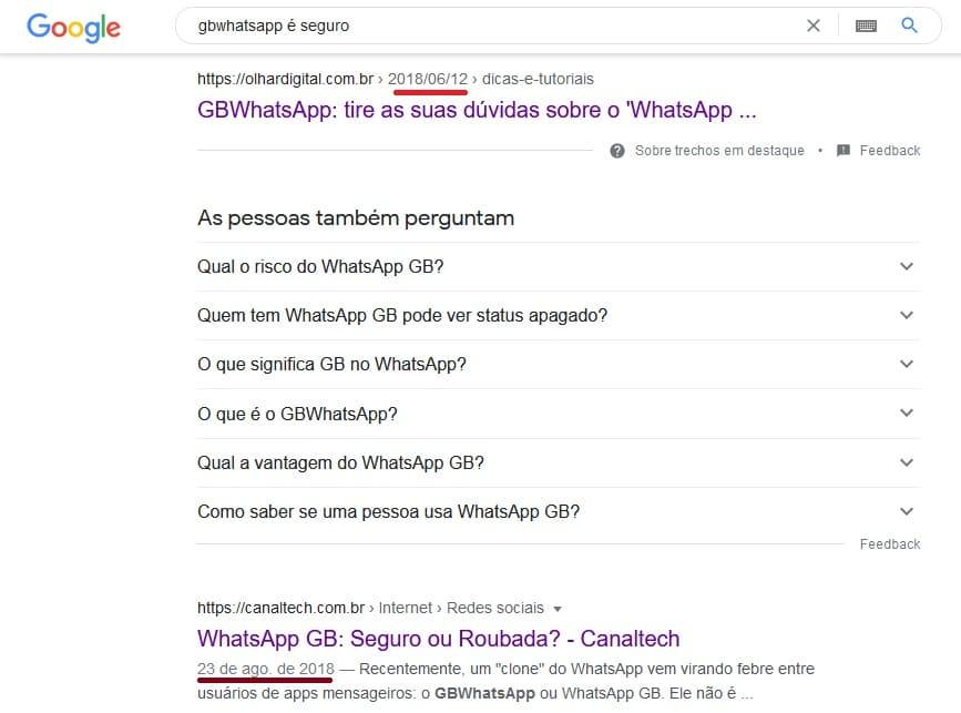 gbwhatsapp é seguro de acordo com outros sites