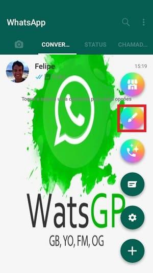 mudando a tela inicial do whatsapp gb pela tela principal