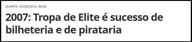 pirataria tropa de elite