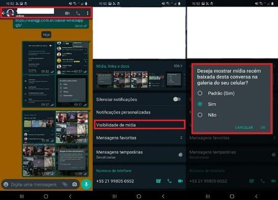 retirando visibilidade de mídia no download automático no whatsapp