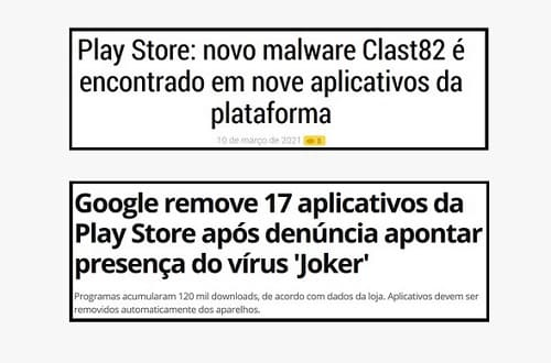 vírus em aplicativos na Google Play