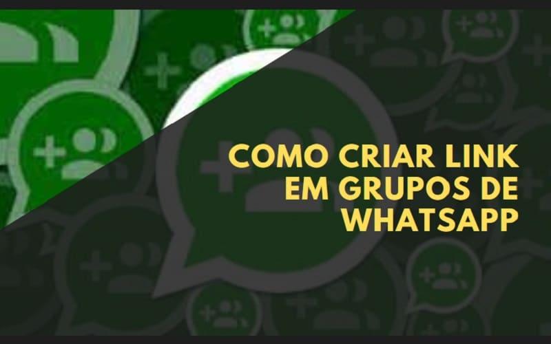 como criar link de grupos de whatsapp