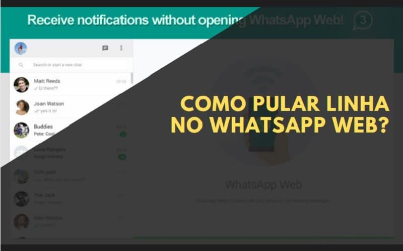 como pular linha no whatsapp web