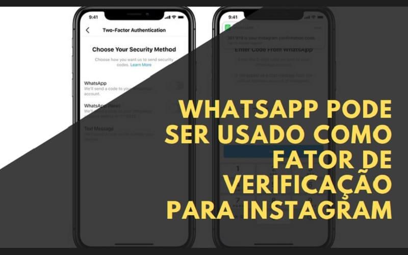 whatsapp como forma de verificação no instagram