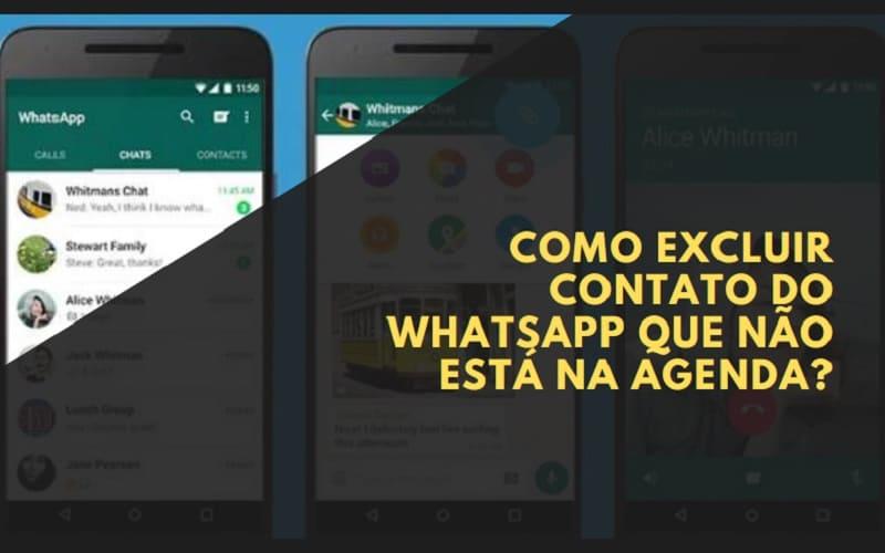 Como Excluir Contato do WhatsApp que Não está na Agenda