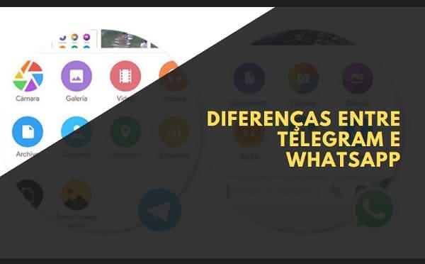 Diferenças entre telegram ou whatsapp