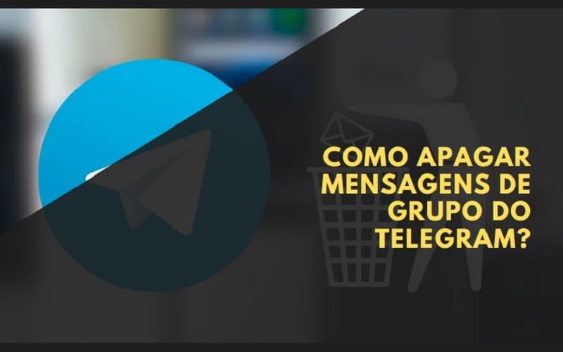 como apagar mensagens de grupo do telegram