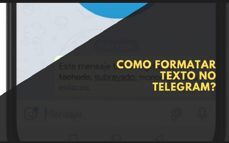 como formatar texto no telegram
