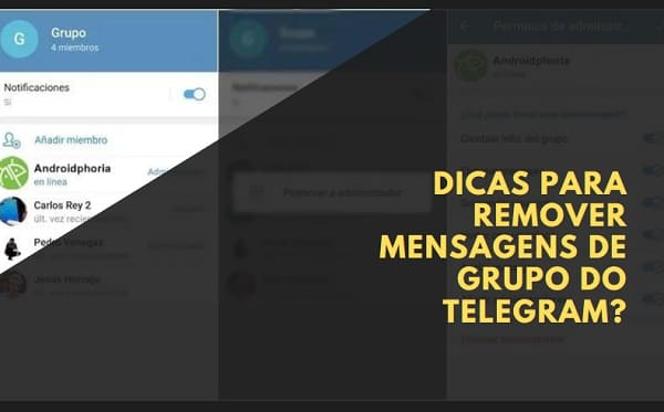 como remover mensagens de grupo do telegram