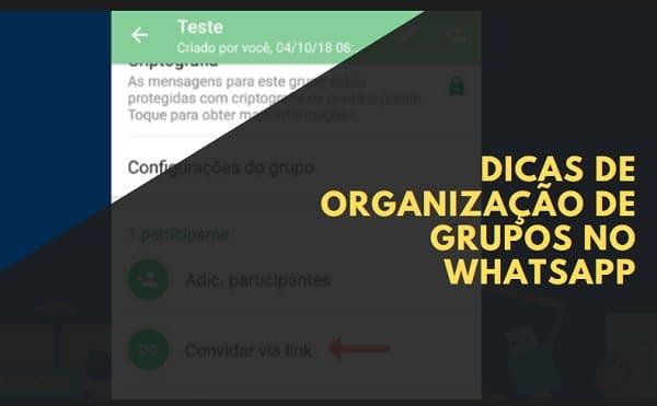 dicas para organizar grupos de whatsapp