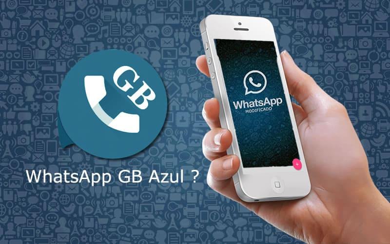 WhatsApp GB Azul