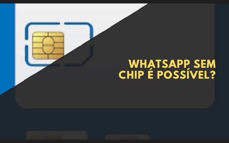 whatsapp sem chip